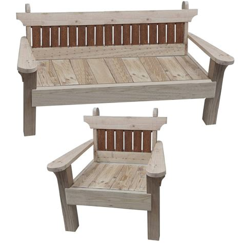 garden chair  bench combo woodworking plans etsy