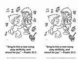 Psalm Colouring Gladness Wonderfullymadekids Concentraweb Creche sketch template
