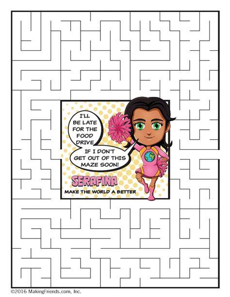 rose petal superhero maze serafina