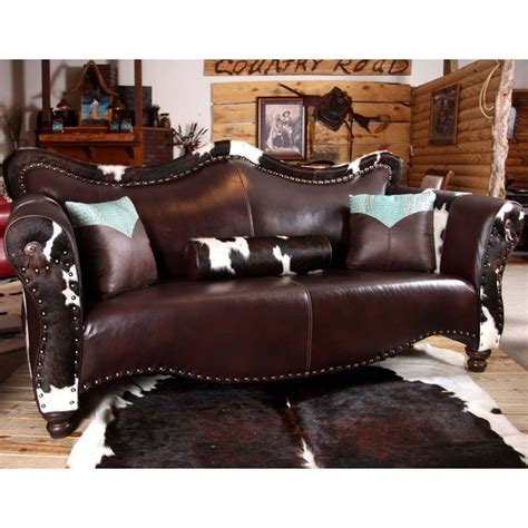Cowhide Leather Sofa by Cowhide Leather Furniture