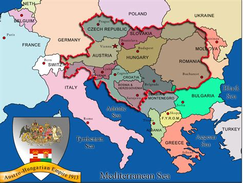 overlay map   austro hungarian empire