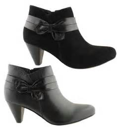 womens boots on sale zensu glare womens leather and suede fashion ankle mid heel boots on sale ebay