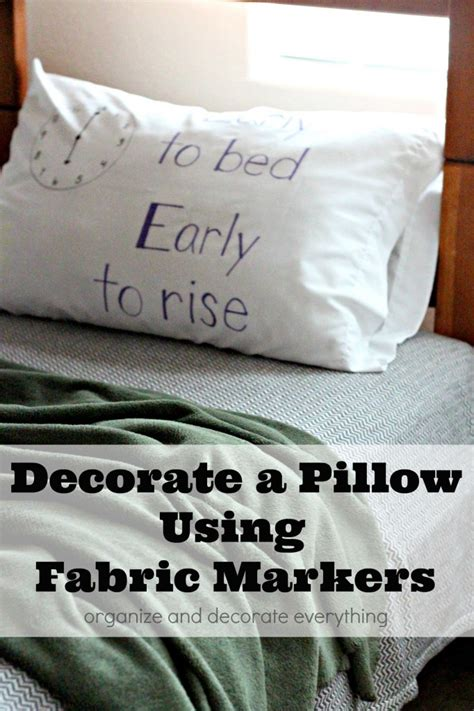 Decorating Fabric With Sharpies by Decorate A Pillow Using Fabric Markers Organize And