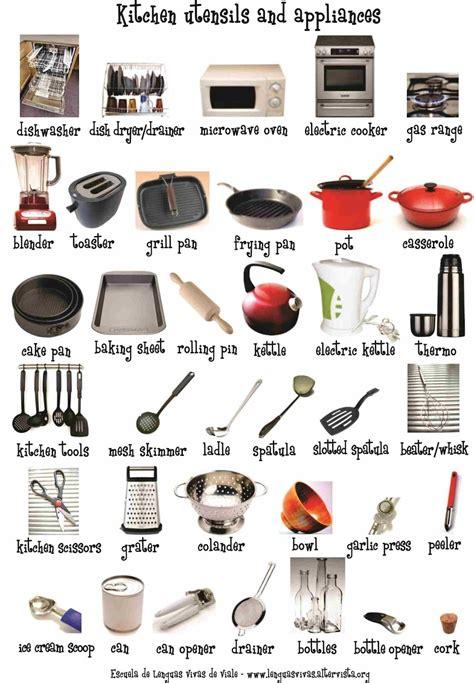 list of kitchen accessories utensilios de cocina kitchen utensils aprendo ingl 233 s 7131