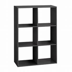 Etagere 6 Cases : etag re mix 6 cases noir biblioth que et tag re eminza ~ Teatrodelosmanantiales.com Idées de Décoration