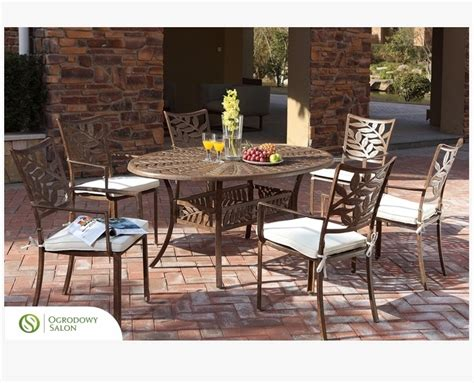 aluminiowy st 243 ł owalny 170x115 cm ontario stoły aluminiowe ogrodowy salon