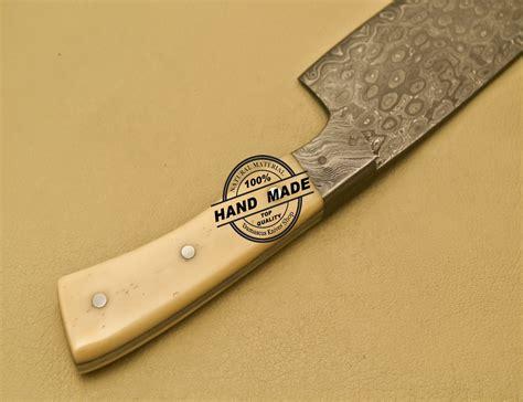 damascus kitchen knives damascus kitchen knife custom handmade damascus steel kitchen chef knife with bone handle 904
