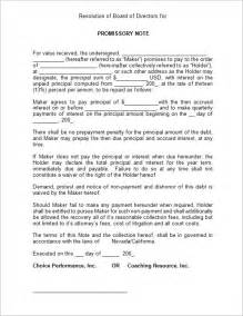 Free Blank Promissory Note Template
