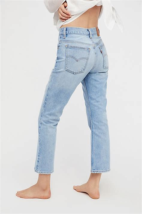 levis  cropped boot cut jeans  people