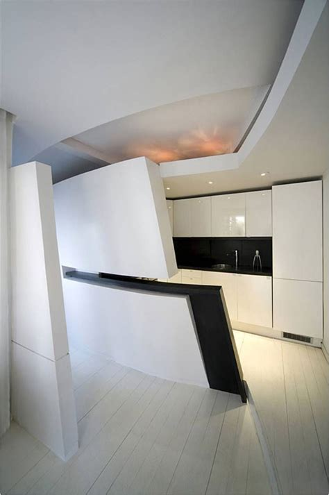 futuristic kitchen design futuristic penthouse apartment in madrid 1145