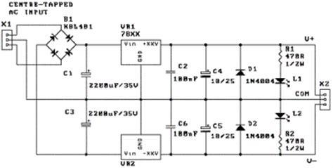 Dual Power Supply Schematic Circuit Diagram