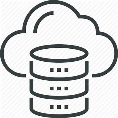 Cloud Database Icon Data Storage Computing Server