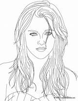 Coloring Pages Realistic Twilight Kristen Stewart Celebrities Printable Adult Adults Books Victorious Bella Famous Sheets Vampire Justice American Getcolorings Colouring sketch template