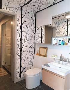 bathroom with wallpaper ideas wallpapers for bathrooms walls 2017 grasscloth wallpaper