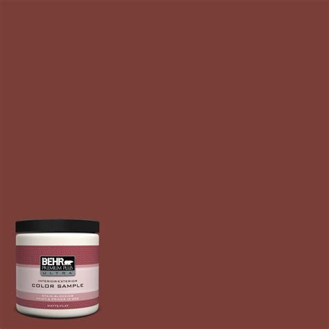 behr premium plus ultra 8 oz ecc 36 3 bluff matte interior exterior paint and primer in
