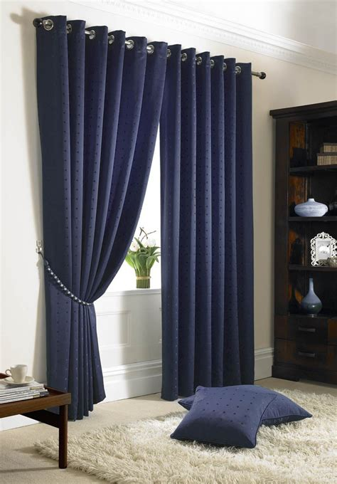 Navy Blue Blackout Curtains Walmart by Jacquard Check Navy Blue Lined Ring Top Eyelet Curtains
