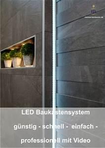 Dusche Fliesen Wasserdicht : led lichtleisten zum einfliesen f r jeden fliesenbelag ~ Michelbontemps.com Haus und Dekorationen
