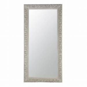Miroir 180 Cm : miroir en bois beige gris h 180 cm ali nor maisons du monde ~ Teatrodelosmanantiales.com Idées de Décoration