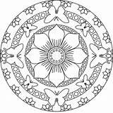 Mandala Coloring Simple sketch template