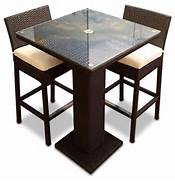Patio Furniture Pub Table Sets by 3 Piece Outdoor Bar Table Set Contemporary Outdoor Pub And Bistro Sets