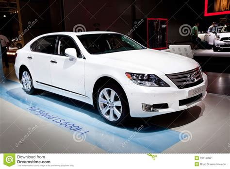 lexus coupe white white car lexus gs 450 h editorial photography image