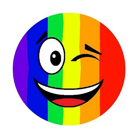 poster emoji de visage de winky darc en ciel fierte