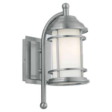 eglo portici 1 light stainless steel outdoor wall mount