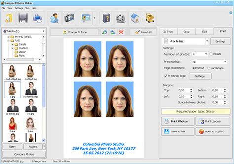passport photo maker screenshots