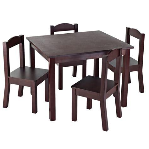 table et chaise pour enfants tot tutors ensemble de table et 4 chaises espresso pour
