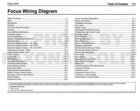 Ford Focus Wiring Diagram Manual Original