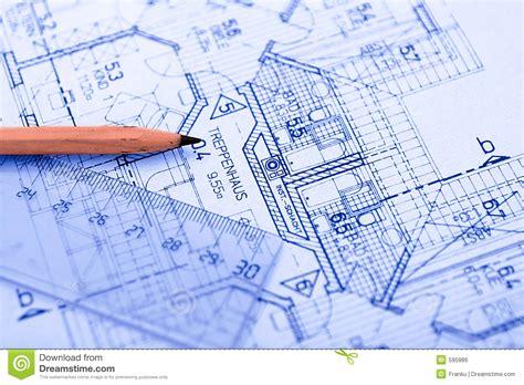 design blueprints pencil on blueprint stock photo image of sketch development 595986