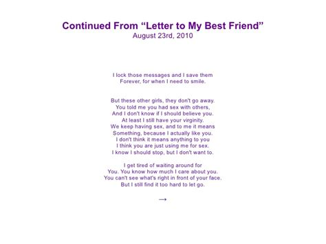 letter for best friend letter to my best friend the best letter 9089