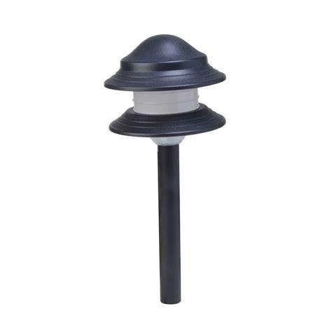 integrated led outdoor lighting moonrays 2 tier low voltage 24 watt black outdoor
