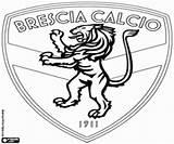 Coloring Brescia Football Pages Shield Calcio Emblems Serie Flags League Italian Lazio sketch template