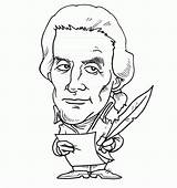 Coloring Presidents Creation Days Cartoon Jefferson Thomas Popular Library Clipart Coloringhome sketch template