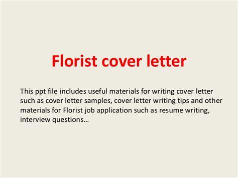 Floral Designer Resume Cover Letter by Florist Cover Letter