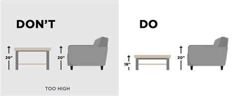 how tall is a coffee table coffee table dimension guide ashley furniture homestore