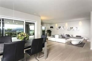 Wohnzimmer Mit Essbereich : wohnzimmer mit essbereich grau wei einrichten inneneinrichtung weberhaus stadtvilla ~ Watch28wear.com Haus und Dekorationen
