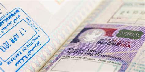Visas for Indonesia, Visas in Indonesia