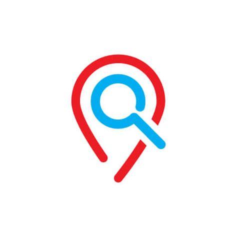 buy pin location search logo template design vector