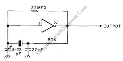 Crystal Oscillator With Cmos Inverter Simple Circuit Diagram