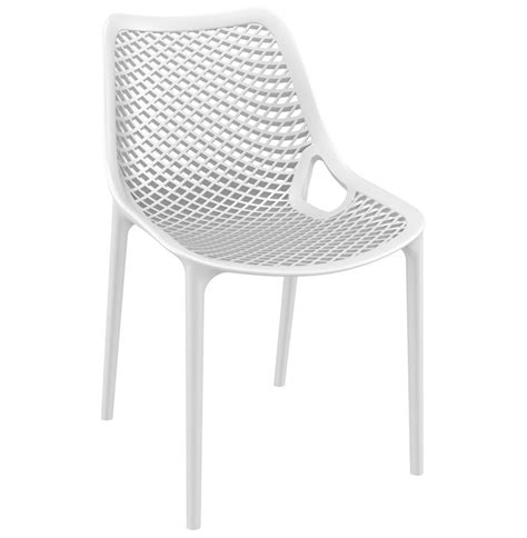 chaise moderne blanche chaise moderne 180 180 blanche en mati 232 re plastique addesign