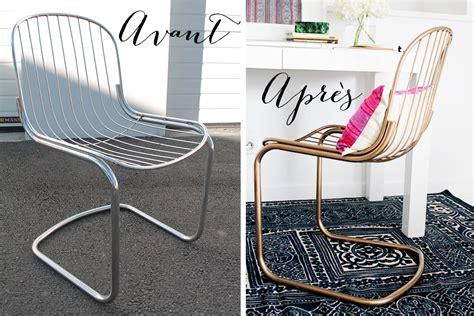 peindre chaise en bois diy comment peindre des chaises en métal en doré