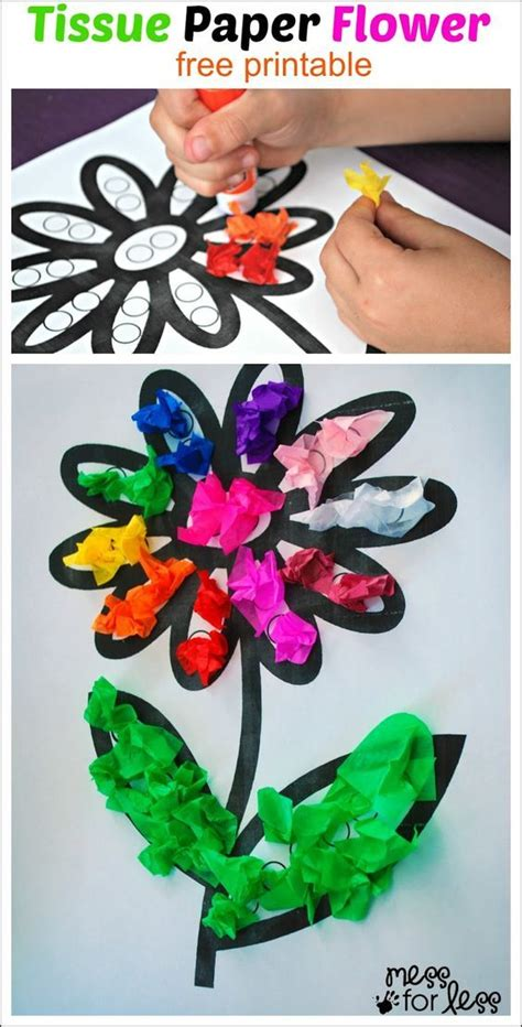tissue paper flower activity mess for less arts 231 | ef5dac990158585f277ecbcadcb214d9