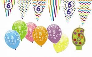 Deko Geburtstag 1 : 6 geburtstag girlande luftballons kerze deko set sechs kaufen bei kids party world ~ Markanthonyermac.com Haus und Dekorationen
