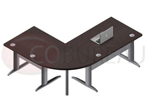 plateau bureau angle ensemble bureau cadre 120 cm pro métal avec angle de