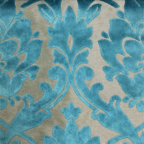 radcliffe damask pattern lurex burnout velvet upholstery fabric bty