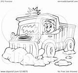 Snow Clipart Plough Driver Happy Illustration Outlined Waving Plow Royalty Visekart Vector Coloring Pages Template sketch template