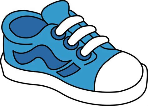 Clipart Shoes Sneakers Clipart Blue Shoe Pencil And In Color Sneakers