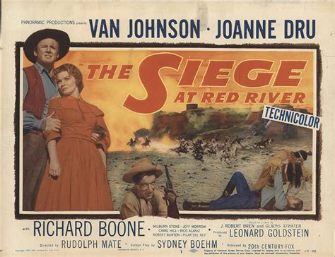 siege fff siege at river 1954 original lobby card fff 29871
